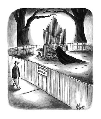 Fence Drawing - New Yorker April 10th, 1995 by Frank Cotham