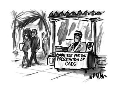 Beverly Hills Drawing - New Yorker April 10th, 1995 by Warren Miller
