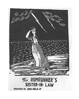 Sisters Drawing - New Yorker April 11th, 1925 by Jr., John Held