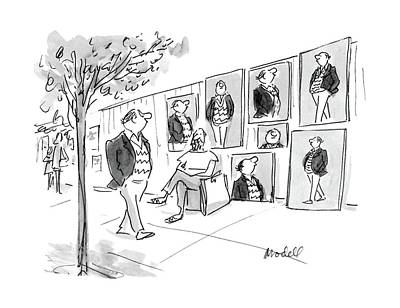 Sidewalk Drawing - New Yorker April 11th, 1988 by Frank Modell
