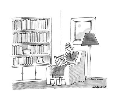 Library Drawing - New Yorker April 11th, 1988 by Mick Stevens