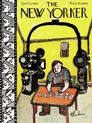 Filmstrip Painting - New Yorker April 13th, 1946 by Abe Birnbaum