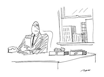 Stare Drawing - New Yorker April 13th, 1987 by Al Ross