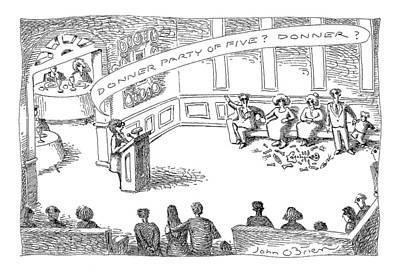 Human Skeleton Drawing - New Yorker April 13th, 1998 by John O'Brien