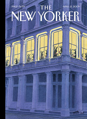 Easter Bunny Painting - New Yorker April 13th, 2009 by Harry Bliss