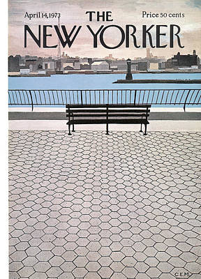 New Yorker April 14th, 1973 Art Print by Charles E. Martin