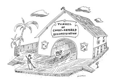Rowboat Drawing - New Yorker April 14th, 1997 by Michael Maslin