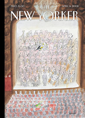 Seating Painting - New Yorker April 14th, 2008 by Jean-Jacques Sempe