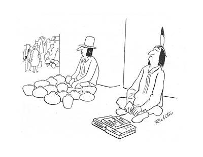 Native Drawing - New Yorker April 15th, 1944 by Mischa Richter