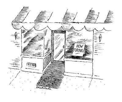 Window Signs Drawing - New Yorker April 15th, 1996 by Stuart Leeds
