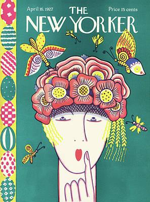 Fashion Painting - New Yorker April 16th, 1927 by Ilonka Karasz