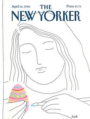 New Yorker April 16th, 1990 Print by Heidi Goenne