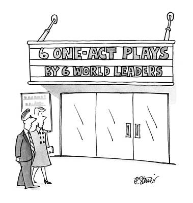 World Leader Drawing - New Yorker April 16th, 1990 by Peter Steiner