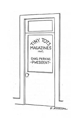 Professional Drawing - New Yorker April 17th, 1943 by Roberta Macdonald