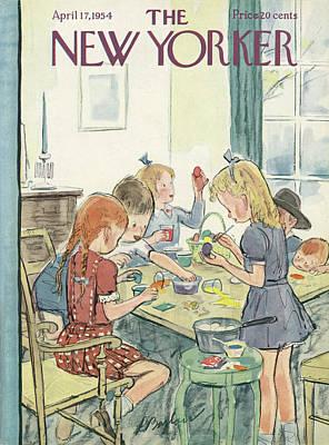 New Yorker April 17th, 1954 Art Print