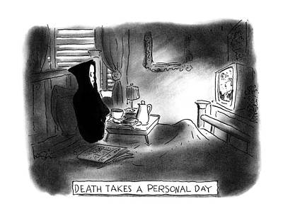 Ale Drawing - New Yorker April 17th, 1995 by Arnie Levin