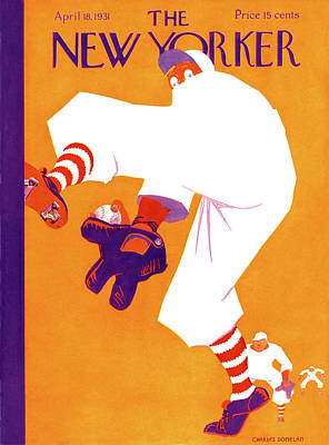 Shea Stadium Painting - New Yorker April 18th, 1931 by Charles Donelan