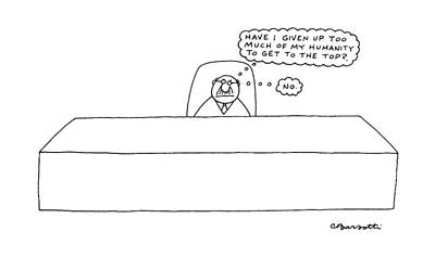 Mental Drawing - New Yorker April 18th, 1988 by Charles Barsotti