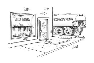 Truck Drawing - New Yorker April 18th, 1988 by Tom Cheney