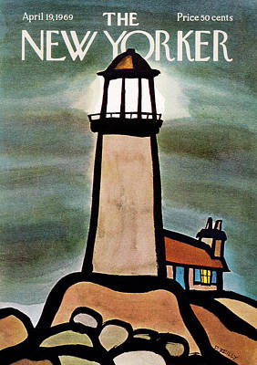 Fog Painting - New Yorker April 19th, 1969 by Donald Reilly