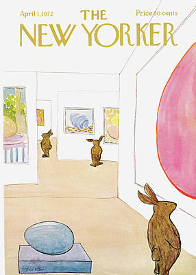 Artistic Painting - New Yorker April 1st, 1972 by James Stevenson