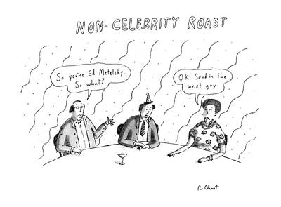 Celebrity Drawing - New Yorker April 20th, 1987 by Roz Chast