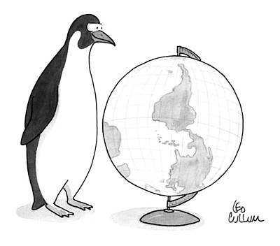 Antarctica Drawing - New Yorker April 20th, 1992 by Leo Cullum