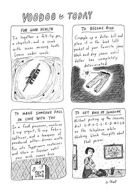 Thought Drawing - New Yorker April 21st, 1986 by Roz Chast
