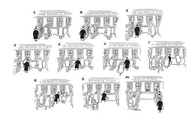 Impatients Drawing - New Yorker April 22nd, 1944 by  Alain