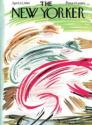 Abe Birnbaum Painting - New Yorker April 22nd, 1961 by Abe Birnbaum