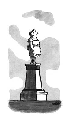 Trophies Drawing - New Yorker April 22nd, 1967 by Robert Weber