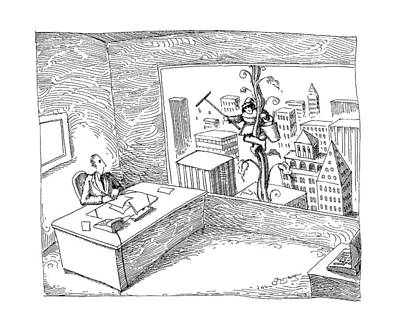 Skyscrapers Drawing - New Yorker April 22nd, 1991 by John O'Brien