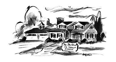 House Drawing - New Yorker April 22nd, 1996 by Lee Lorenz