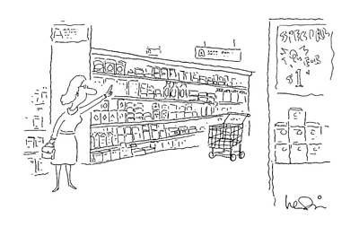 April 23rd Drawing - New Yorker April 23rd, 1990 by Arnie Levin