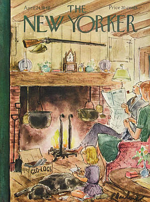 Paper Boy Painting - New Yorker April 24th, 1948 by Perry Barlow
