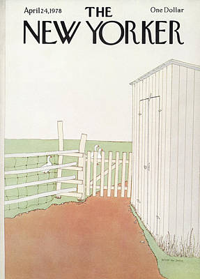 Simpson Painting - New Yorker April 24th, 1978 by Gretchen Dow Simpson
