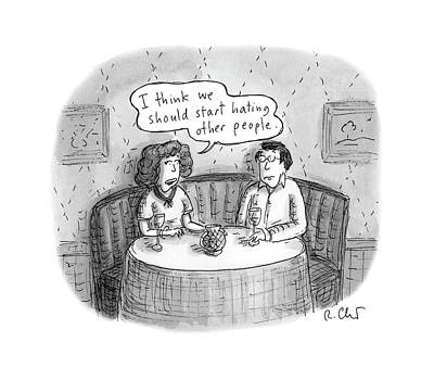 Dating Drawing - New Yorker April 24th, 2017 by Roz Chast