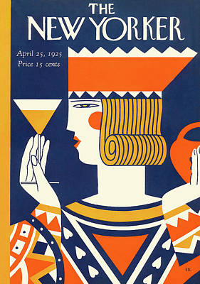 Alcohol Painting - New Yorker April 25th, 1925 by Ilonka Karasz