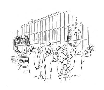 Amazement Drawing - New Yorker April 25th, 1942 by  Alain