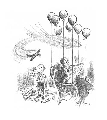 Annoying Drawing - New Yorker April 25th, 1942 by Alan Dunn