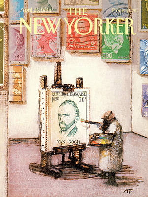 Andre Painting - New Yorker April 25th, 1988 by Andre Francois