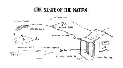 National Park Drawing - New Yorker April 25th, 1988 by Simon Bond