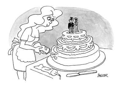 April 25th Drawing - New Yorker April 25th, 1994 by Jack Ziegler