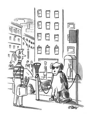 April 25th Drawing - New Yorker April 25th, 1994 by Peter Steiner