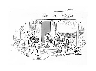 Crying Drawing - New Yorker April 26th, 1941 by  Alain