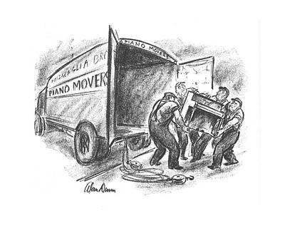 Lift Truck Drawing - New Yorker April 27th, 1940 by Alan Dunn