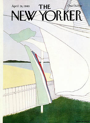 Simpson Painting - New Yorker April 28th, 1980 by Gretchen Dow Simpson