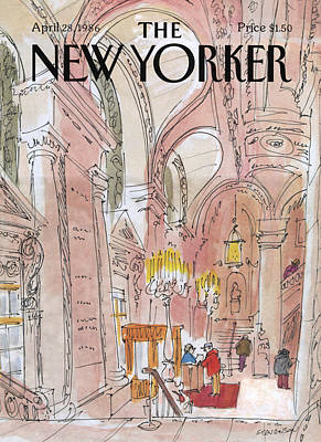 Opera House Painting - New Yorker April 28th, 1986 by James Stevenson