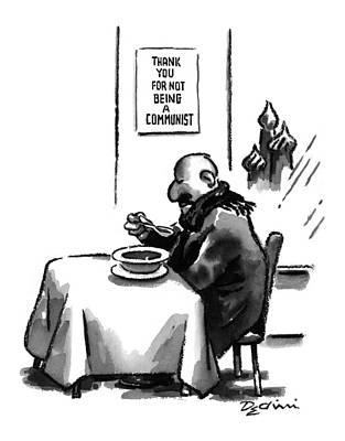 Europe Drawing - New Yorker April 28th, 1997 by Eldon Dedini