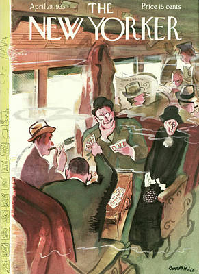 Train Painting - New Yorker April 29th, 1933 by Garrett Price